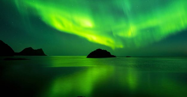 Bathed in the northern lights