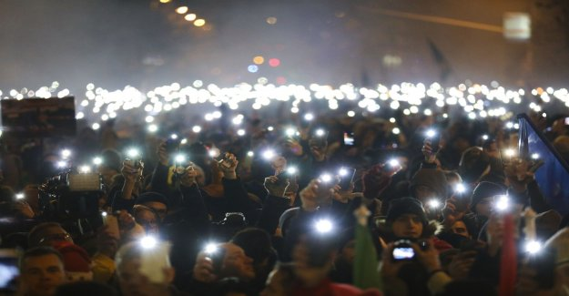 Demonstration in Hungary, against Orbán's government