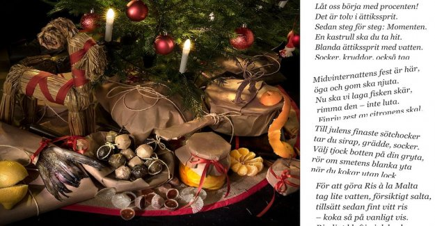 Done and dusted – here is your rhyming christmas food