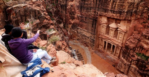 French tourist makes a deadly trap in the famous historical city of Petra