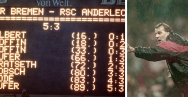 The tragedy of Anderlecht at Werder Bremen was played today, exactly 25 years: Our fans danced to the rest. She wept after