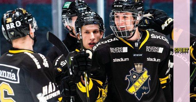 AIK back in the vinnarspåret – storms against the SHL-qualification