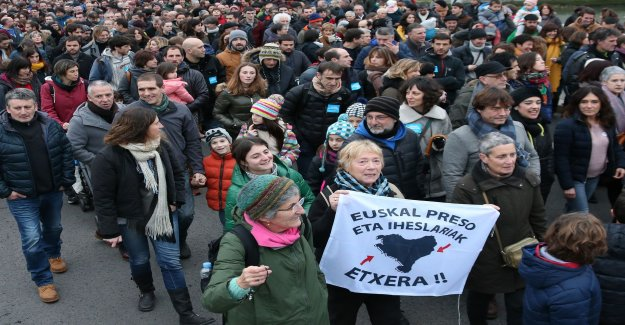 Protest for the relocation of ETA prisoners