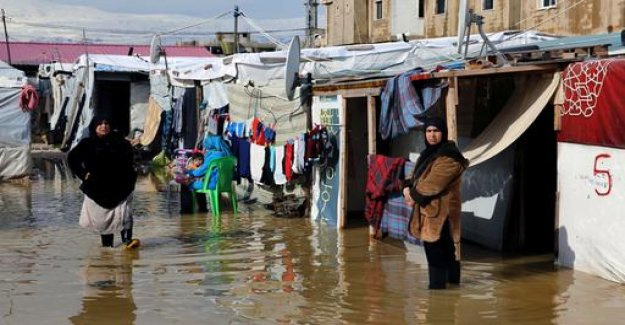 Refugee camps overflowed in Lebanon
