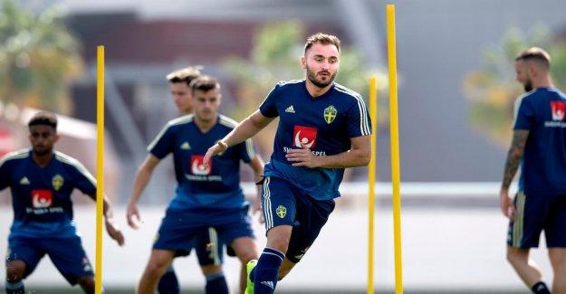Sweden's starting line-up against Iceland
