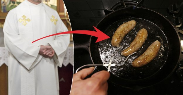 The man broke into the church, and fried sausages – in vestments