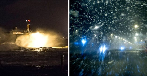 The storm, Alfrida sweeps over Sweden: the Subject can fly around