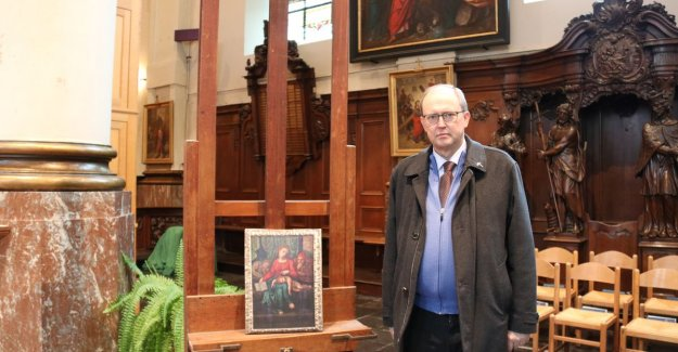 Thieves steal old painting from a church in Zele, belgium, may the hand of Michelangelo