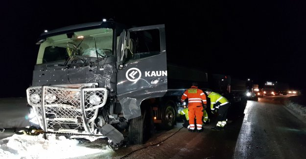 Truck and minibus in the severe accident