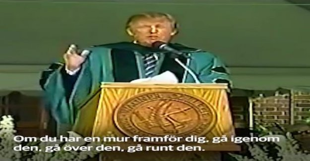 Trump in the speech from 2004: If you have a wall in front of you, go around
