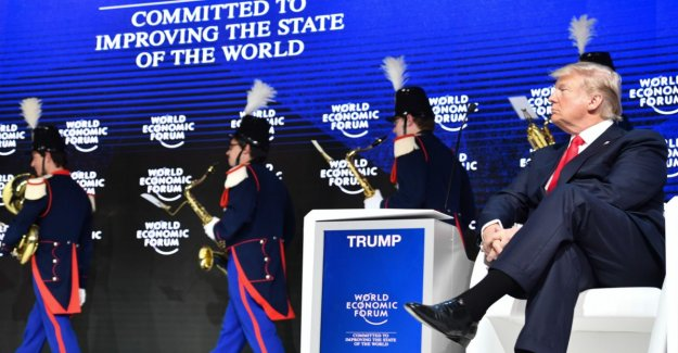 Trump says participation in the world economic forum