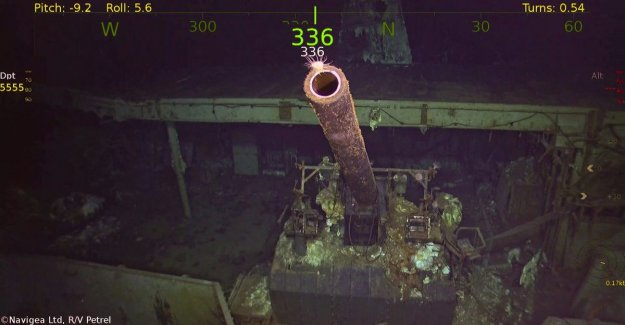 77 years after the ruthless attack by Japanese bombers wreck of the legendary warship USS Hornet found