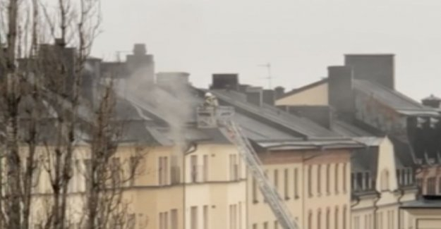 Fire on Södermalm – the woman to the hospital