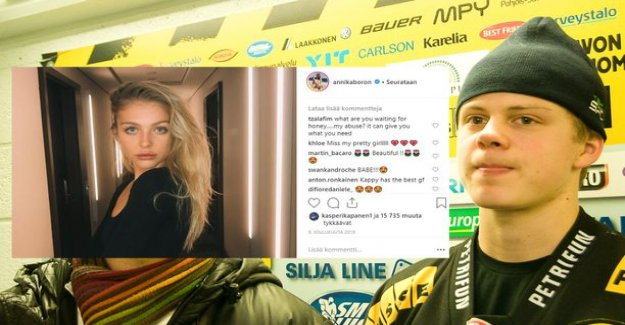 Intimate photo of buzz displaced Kasperi Kapanen and Annika Boronin is-again-off-again ice? Remove the common somehistorian