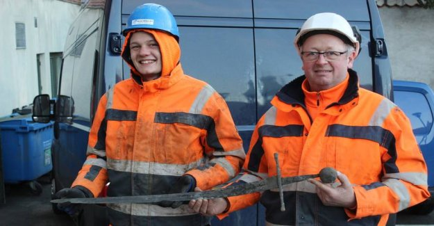 Sensational discoveries in Aalborg: the Sword stuck out of the ground