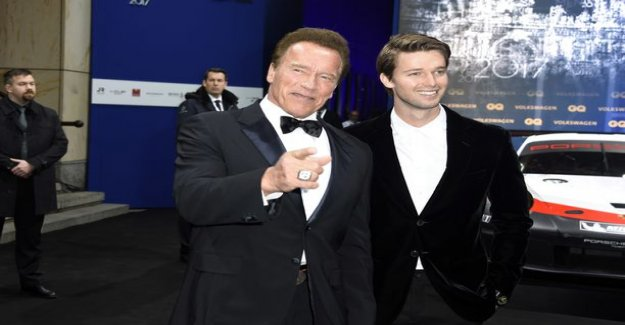 Arnold Schwarzenegger and Patrick-the son like two peas in a pod