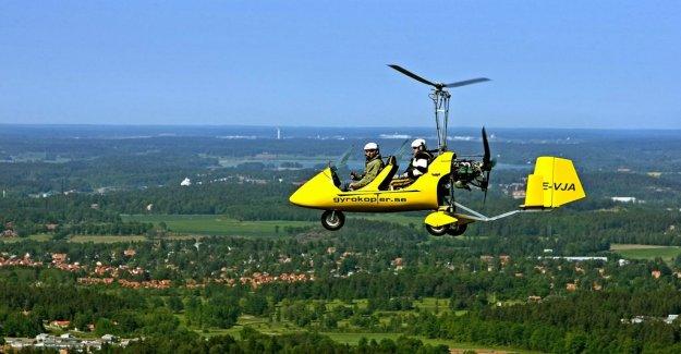 Gyrocopter has crashed in Skåne