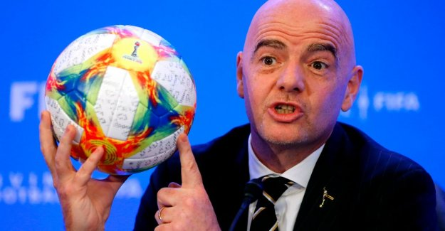 Infantino rub against shins: FIFA approves new plan for world cup with 24 clubs by