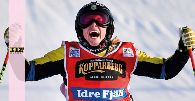 Näslund on the podium – was second in the world cup