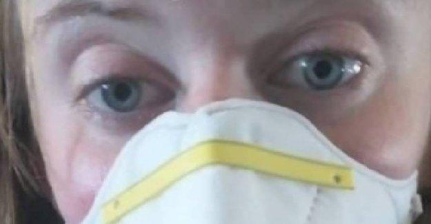 Nøddeallergi on board: Laura had to hide in the flytoilettet
