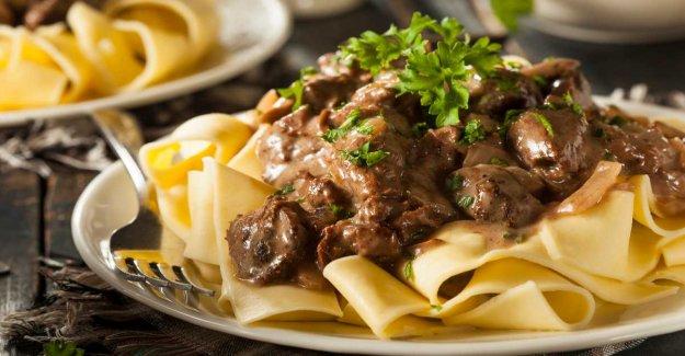Oxfilépasta – creamy sauce with mushrooms and garlic