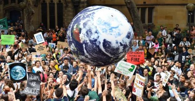 Protest for climate protection in the world today