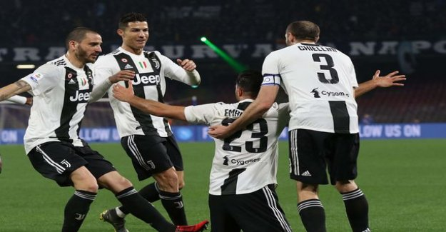 Ronaldo acquired loikallaan sent off the goalkeeper for Juventus for crushing Napoli small dreams of a championship