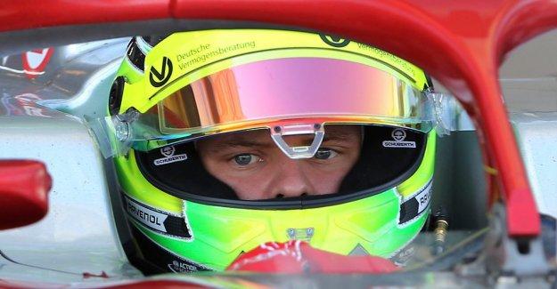 Schumacher's son driving a formula 1