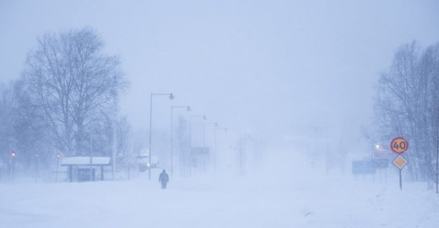 The Risk of large amounts of snow in southern Norrland