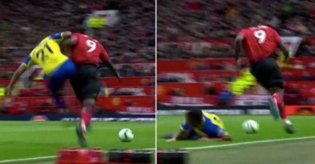 The 'man mountain' in Romelu Lukaku: striker runs merrily by after the infamous attack