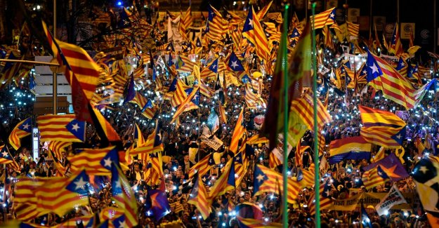 Thousands of Catalans protest in Madrid