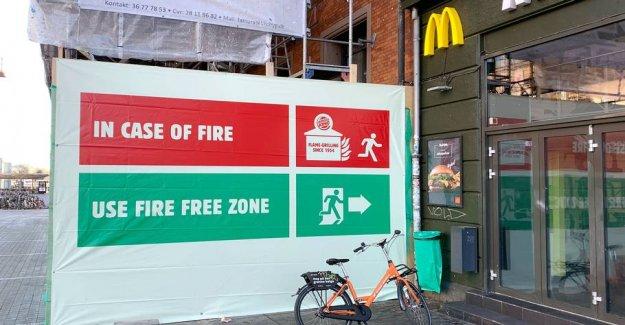 Burger King starts the war ten centimeters from the Danish Mcdonald's