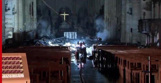 Photos show the devastation inside the Notre-Dame