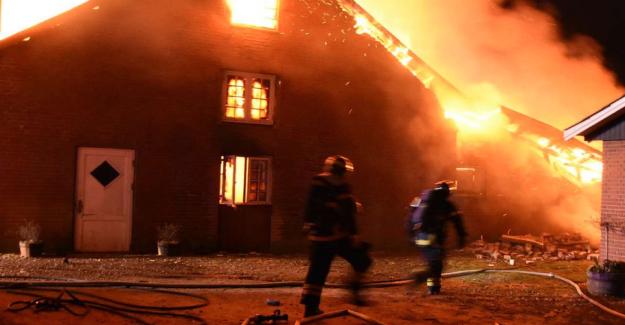 Severe damage after gårdbrand in the night