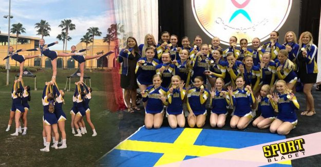 Swedish JVM-gold in cheerleading – the first ever