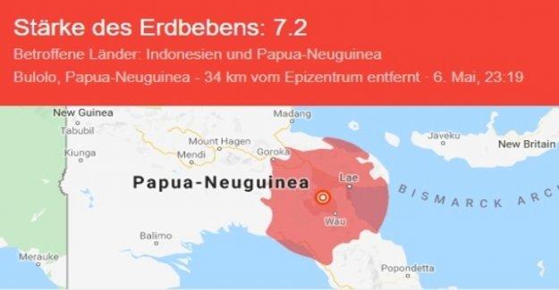 7.2 magnitude earthquake rocked Papua new Guinea