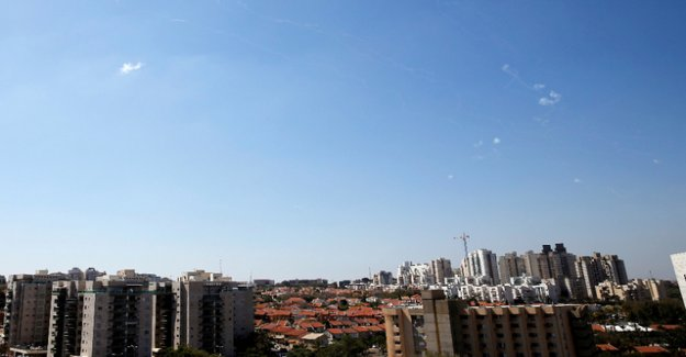 About 90 rockets from the Gaza strip into Israel fired