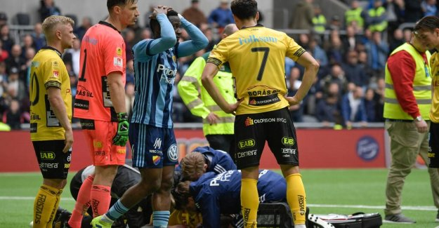 Djurgården won against Elfsborg after nasty injury