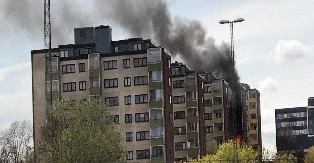 Fire in high-rise buildings in Botkyrka