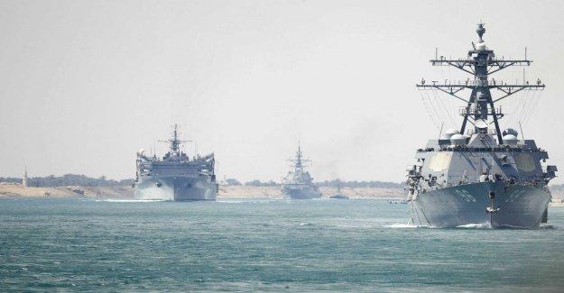 Iran can easily reach the american ship
