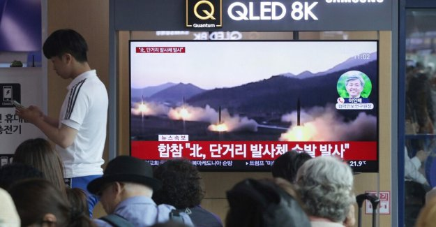 North korea fired missiles in the Japanese sea