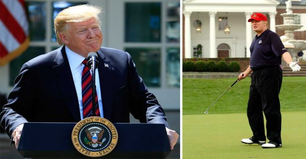 The U.S.'s golf association: Trump went incredibly good round