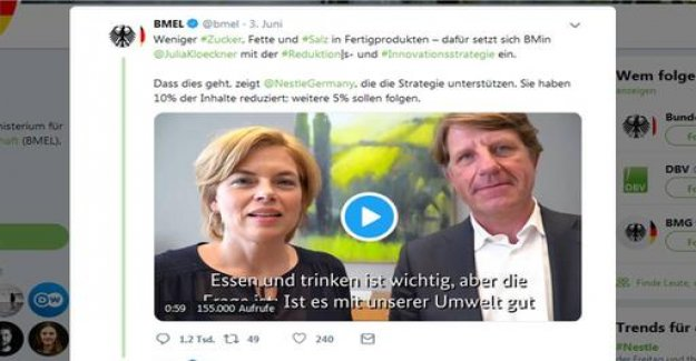 Video with Nestlé - criticism of Minister for agriculture, Klöckner