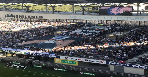 Fans of AA Gent will be the parts clearly cross out to KV Mechelen, with tifo: Gent is going to be the champions League, you are not