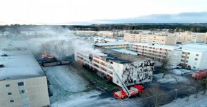 Skövdebranden: the Insulation caught on fire