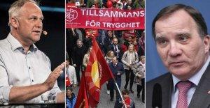 Stefan Löfven is responding to criticism about labour law