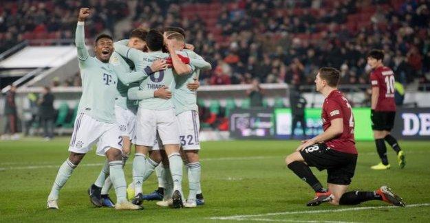 15. Round of the Bundesliga : Bayern Munich steamrolled Hannover, Düsseldorf in luck