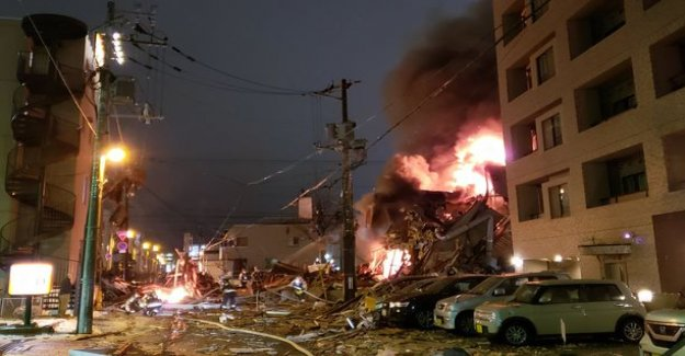 A huge explosion destroyed a restaurant in Japan - more than 40 hospital