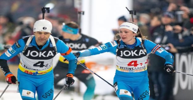 A magnificent performance! Not the Einar Björndalen and Darya Domratsheva jumped one more time back to the track - the result of a third-place world stars against: That was convincing