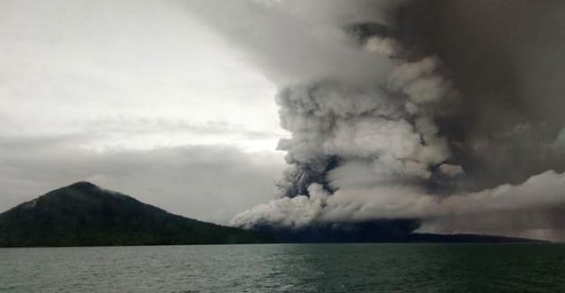 After the eruption: Indonesian volcano shrunk